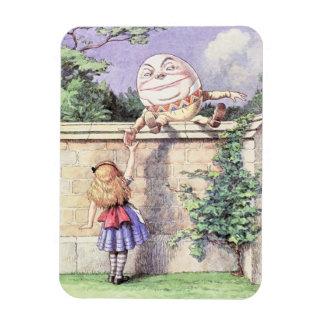 Alice Meets Humpty Dumpty Rectangular Photo Magnet