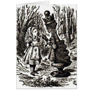 Alice Meets Red Queen Card