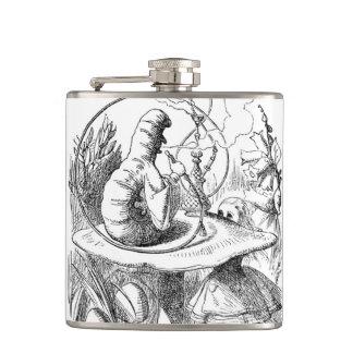 Alice Meets the Caterpillar - Alice in Wonderland Flasks