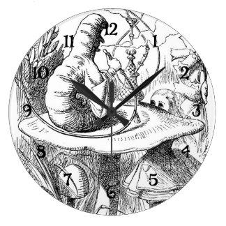 Alice Meets the Caterpillar - Alice in Wonderland Large Clock