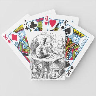 Alice Meets the Caterpillar - Alice in Wonderland Poker Cards