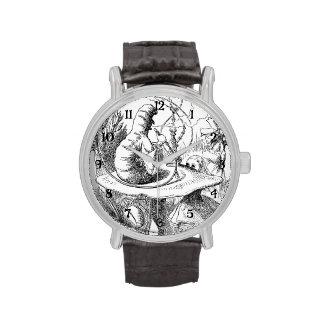 Alice Meets the Caterpillar - Alice in Wonderland Wrist Watch