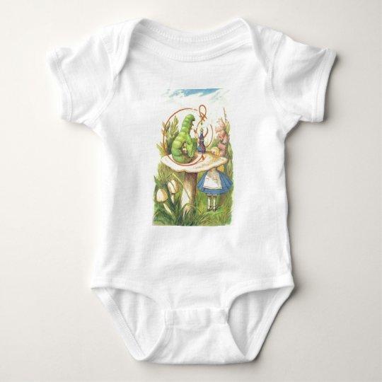 Alice Meets the Caterpillar Baby Bodysuit