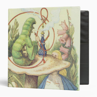 Alice Meets the Caterpillar Vinyl Binders