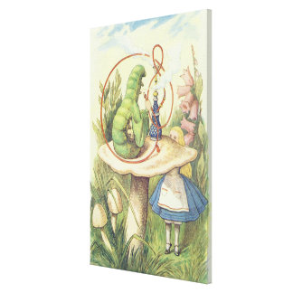 Alice Meets the Caterpillar Canvas Print