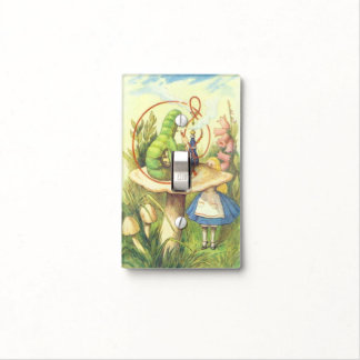Alice Meets the Caterpillar Color Light Switch Cover