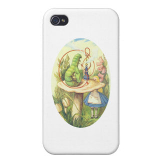 Alice Meets the Caterpillar iPhone 4 Cover