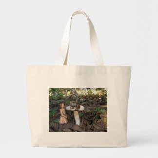 Alice Meets the Caterpillar Large Tote Bag