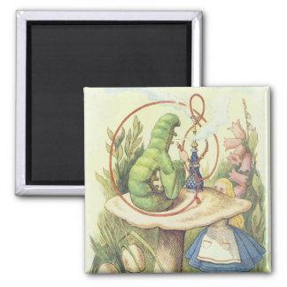 Alice Meets the Caterpillar Fridge Magnet