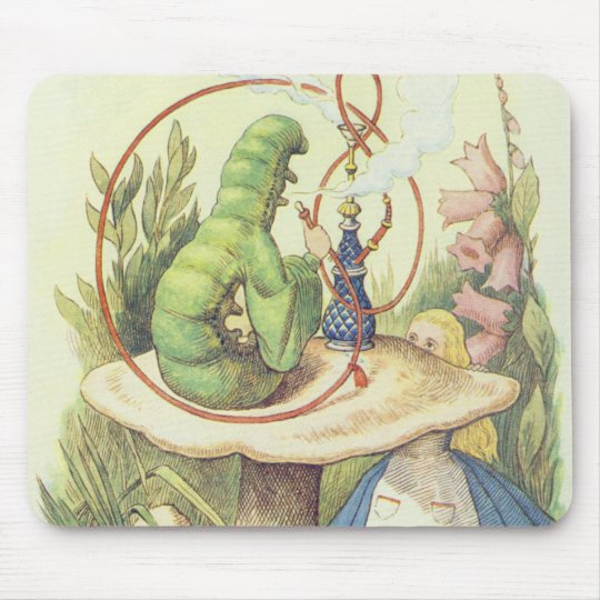 Alice Meets the Caterpillar Mouse Pad