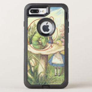 separation shoes 88ee2 3e6be Alice Meets the Caterpillar OtterBox Defender iPhone 8 Plus/7 Plus Case