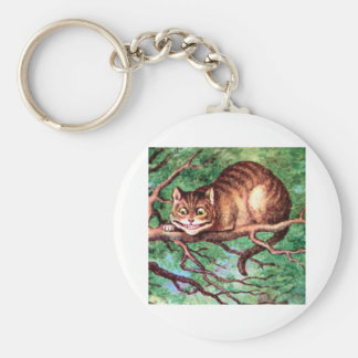 Alice Meets The Cheshire Cat in Wonderland Keychain