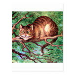 Alice Meets The Cheshire Cat in Wonderland Postcard