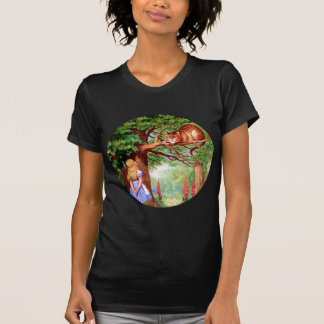 Alice Meets The Cheshire Cat in Wonderland T-Shirt
