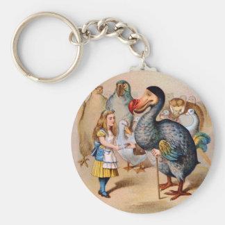 ALICE MEETS THE DODO BIRD KEYCHAIN