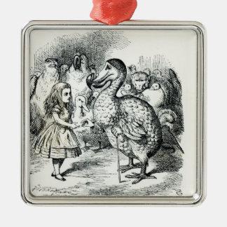 Alice meets the Dodo Metal Ornament