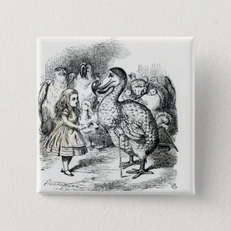 Alice meets the Dodo Pinback Button
