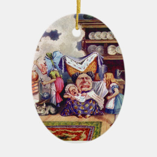 Alice Meets the Duchess and the Pic Baby Ceramic Ornament