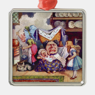 Alice Meets the Duchess and the Pic Baby Metal Ornament
