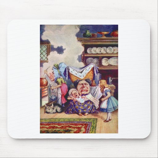 Alice Meets the Duchess and the Pic Baby Mouse Pad