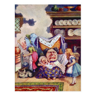 Alice Meets the Duchess and the Pic Baby Postcard