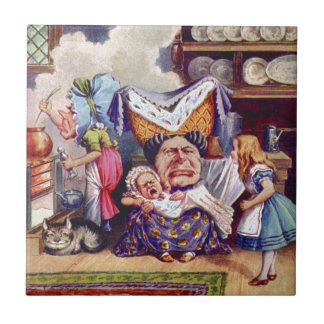 Alice Meets the Duchess and the Pic Baby Tile