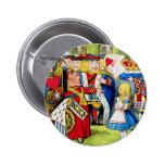 Alice Meets the Queen of Hearts in Wonderland 2 Inch Round Button