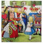 Alice Meets the Queen of Hearts in Wonderland Napkins