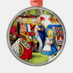 Alice Meets the Queen of Hearts in Wonderland Christmas Tree Ornament