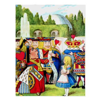 Alice Meets the Queen of Hearts in Wonderland Postcard