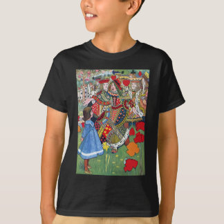 Alice meets the Queen of Hearts Off With Her Head! T-Shirt