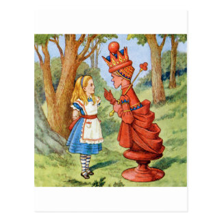 Alice Meets the Red Queen Postcard