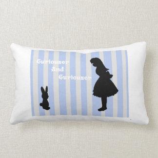 Alice Meet's The White Rabbit Throw Pillows