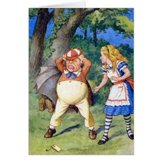 Alice Meets Tweedledee in Wonderland Card