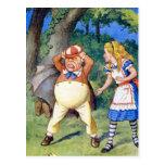 Alice Meets Tweedledee in Wonderland Post Card