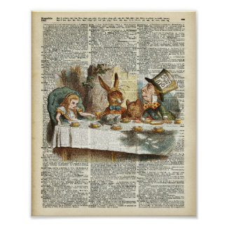 Alice Morning Tea time Poster
