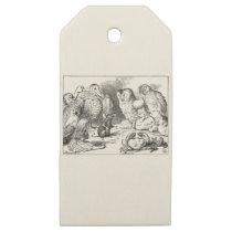Alice, Mouse and Birds Wooden Gift Tags