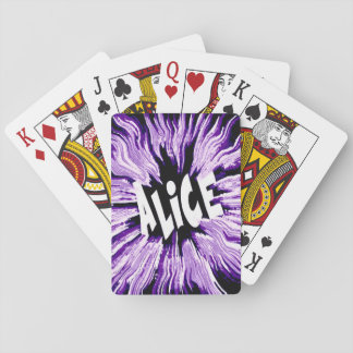 Alice Name Star in Purple Playing Cards