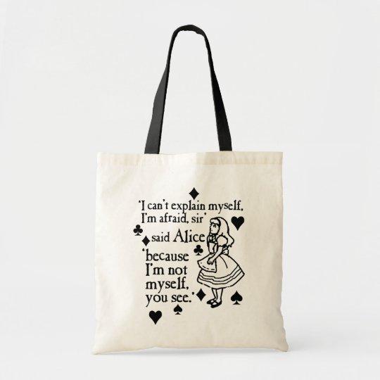 Alice Not Myself Tote Bag