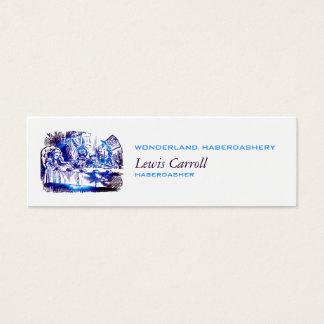Alice Nova Blue Embiggened Mini Business Card