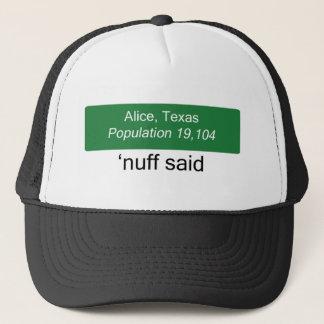 Alice Nuff Said Hat