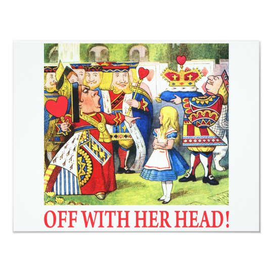 ALICE - OFF WITH HER HEAD! CARD