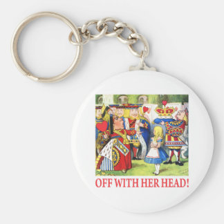 ALICE - OFF WITH HER HEAD! KEYCHAIN