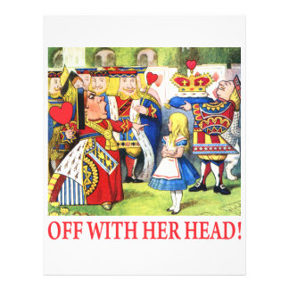 ALICE - OFF WITH HER HEAD! LETTERHEAD