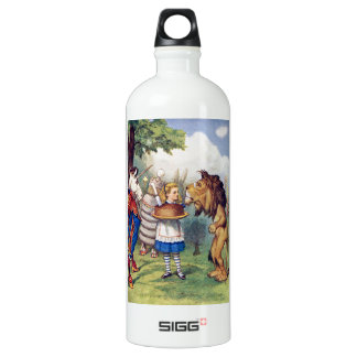 Alice Offers Cake to The Lion and The Unicorn Aluminum Water Bottle