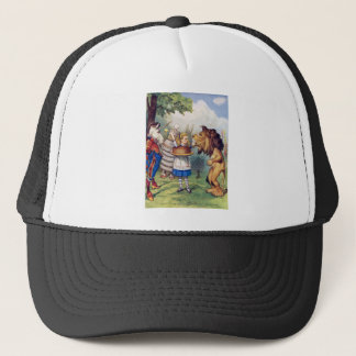 Alice Offers Cake to The Lion and The Unicorn Trucker Hat