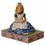 Alice on a Book Ornament