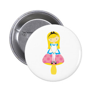 Alice on A Mushroom Buttons
