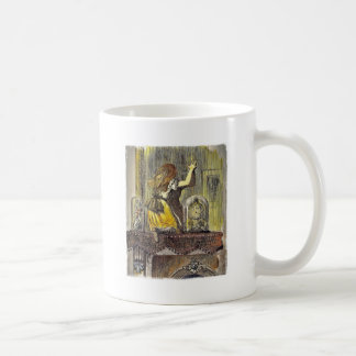 Alice on the Mantle with Bell Jars Coffee Mug