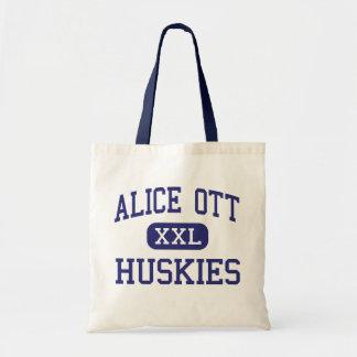 Alice Ott Huskies Middle Portland Oregon Budget Tote Bag